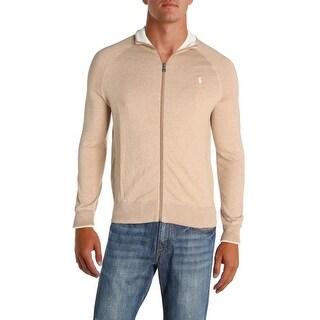 Polo Ralph Lauren Mens Cardigan Sweater Full-Zip Long Sleeves - S