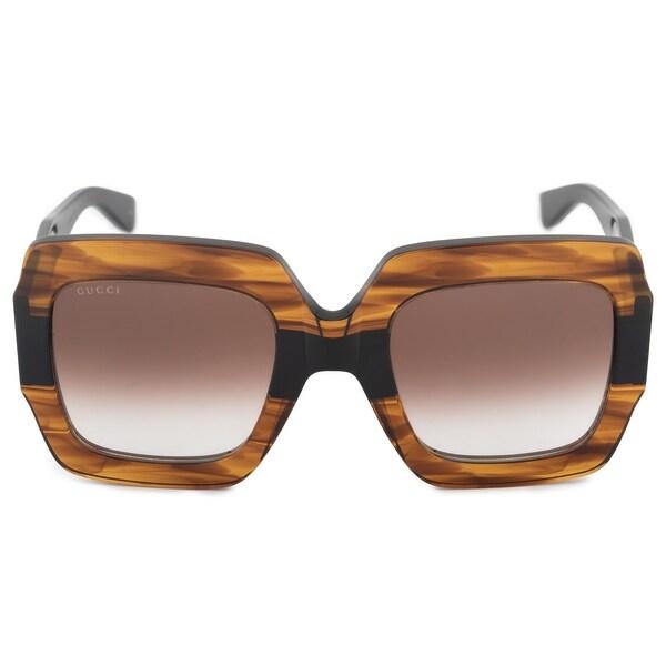 673c6657f4 Shop Gucci Gucci Oversized Square Sunglasses GG0178S 004 54 - Free ...