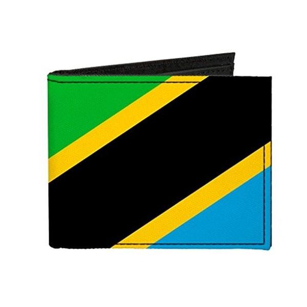 Buckle-Down Canvas Bi-fold Wallet - United Republic Of Tanzania Flag Accessory