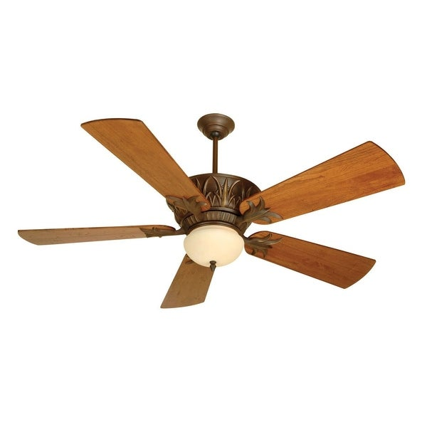 """Craftmade K10272 Pavilion 54"""" 5 Blade Indoor Ceiling Fan - Blades, Remote and Light Kit Included - Aged Bronze"""