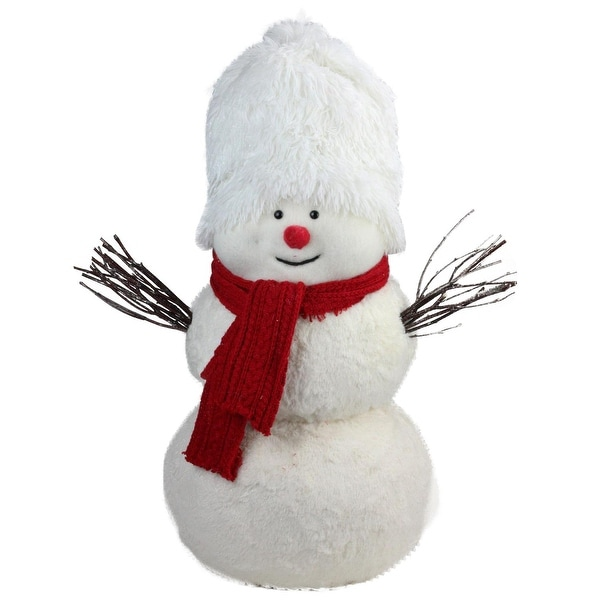 "24.5"" Snowman with Red Scarf Table Top Decoration"