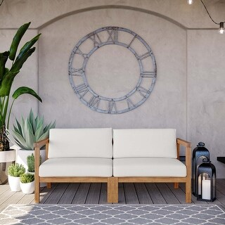 Link to Bayport Outdoor Patio Teak Wood 2-Seater Loveseat Similar Items in Outdoor Sofas, Chairs & Sectionals