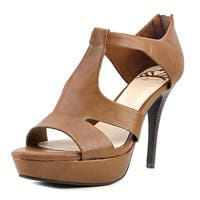 Fergalicious Emilee Women Open Toe Synthetic Brown Platform Sandal