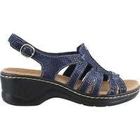 Clarks Women's Lexi Marigold Quarter Strap Sandal Blue Multi Leather