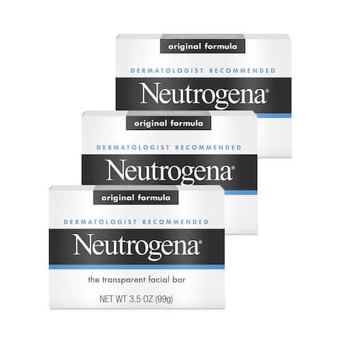 Neutrogena Facial Cleansing Bar 3.5 oz 3-Pack Original Formula