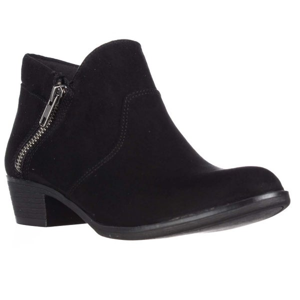 AR35 Abby Side Zip Short Ankle Boots, Black