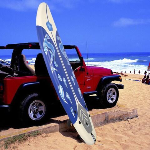 Costway 6' Surfboard Surf Foamie Boards Surfing Beach Ocean Body Boarding White