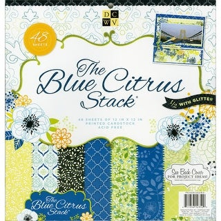 "DCWV Paper Stack 12""X12"" 48/Pkg-Blue Citrus, 24 Designs/2 Each"