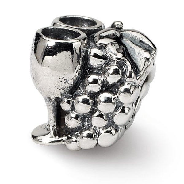 Sterling Silver Reflections Grapes & Glasses Bead (4mm Diameter Hole)