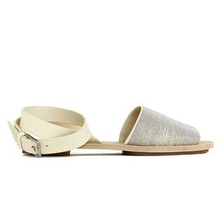 Brunello Cucinelli Womens Silver Nude Monilli Feather Sandals