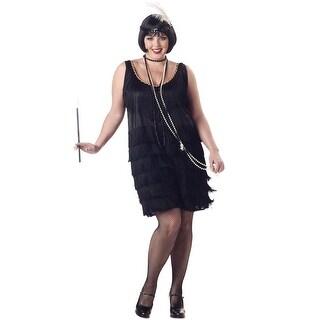 California Costumes Plus Size Fashion Flapper Costume (Black) - Black