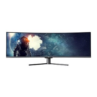 Monoprice MP 49in Zero-G Curved Gaming Monitor DFHD, 32:9, 144hz, FreeSync, DisplayHDR 400 Compatible, Quantum Dot