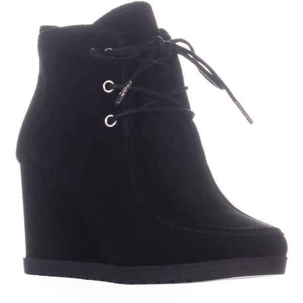 59a733d6eb721 Shop MICHAEL Michael Kors Tamara Lace Up Bootie Wedge Boots, Black ...