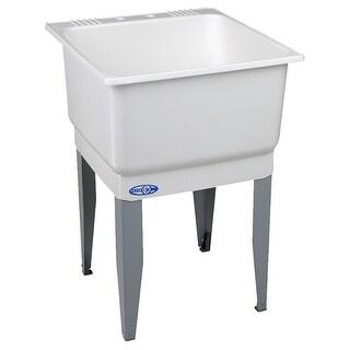 "Mustee 14 Utilatub Floor Mount Laundry/Utility Tub, 23"" x 25"", White"