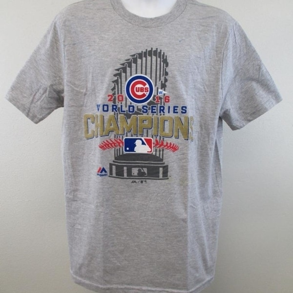low priced 99b39 5eb30 Minor-Flaw Chicago Cubs Youth Size 14/16 L Large 2016 Championship Shirt