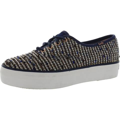 Keds Womens Triple Met Athletic Shoes Lifestyle Slip On - Boucle Blue - 6 Medium (B,M)