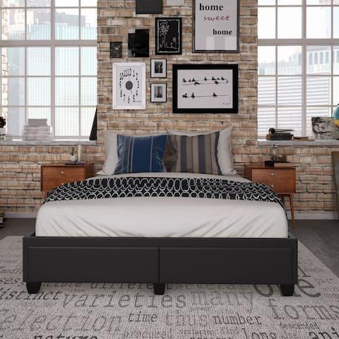 Sleep Sync Parnelli Queen Upholstered Platform Storage Bed Frame
