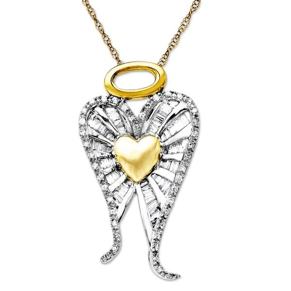 1/2 ct Diamond Miracle of Love Pendant in 14K Two-Tone Gold