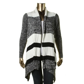 Calvin Klein Womens Plus KNit Marled Cardigan Sweater - 2X