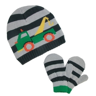 CTM® Toddlers Knit Hat and Mittens Winter Set
