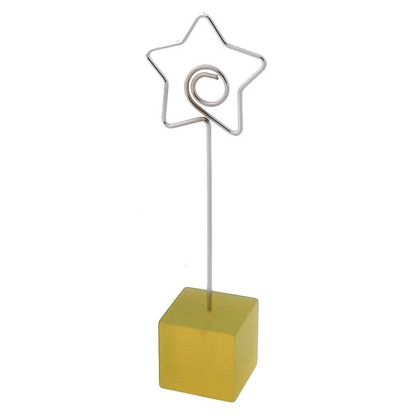 Office Resin Star Shaped Tabletop Decoration Note Photo Card Memo Clip Yellow