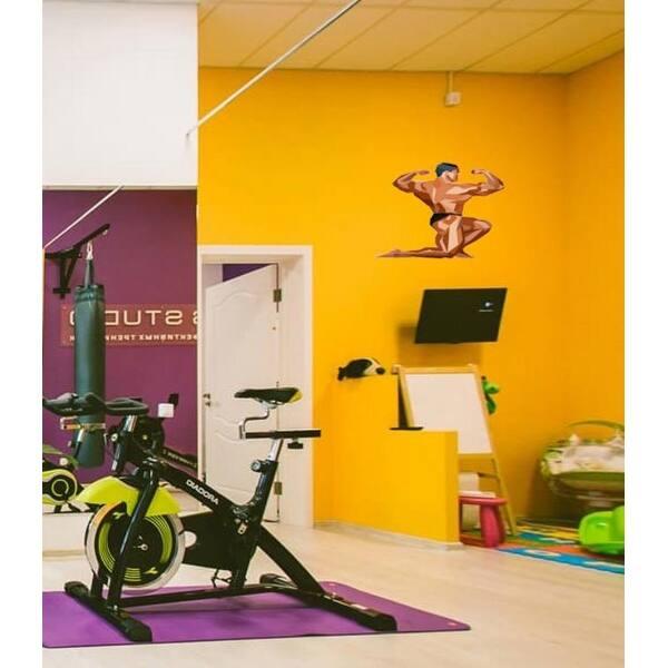 Bodybuilder Polygonal Wall Decal Gym Decor Polygon Modern Wall Art Sticker Overstock 31820842