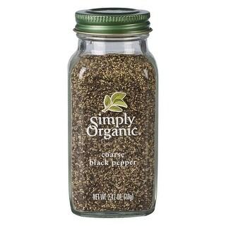 Simply Organic Pepper, Black Coarse Grind ORGANIC 2.47 oz. Bottle