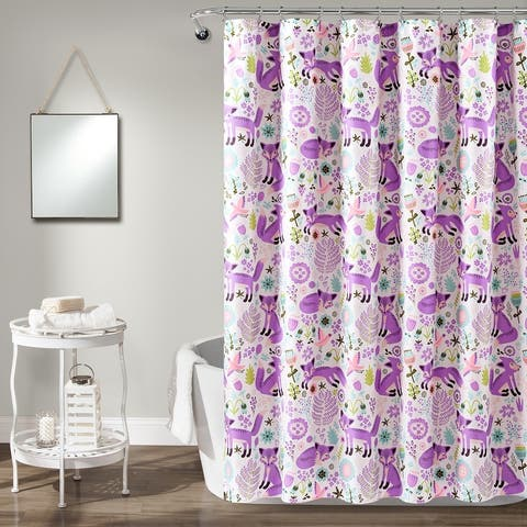 Lush Decor Pixie Fox Shower Curtain