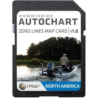 Humminbird 600033-1 AutoChart Zero Lines Map Card AutoChart Zero Lines Map Card