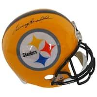 Terry Bradshaw Signed Steelers Yellow Throwback Full Size Replica Helmet JSA