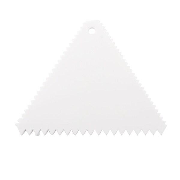 Plastic Triangle Shape Cake Decoration Tool Butter Scraper Cutter - White. Opens flyout.