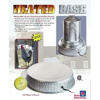 Farm Innovators HP-125 Heated Base for Metal Poultry Founts, 125-Watt