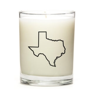 State Outline Soy Wax Candle, Texas State, Fine Bourbon