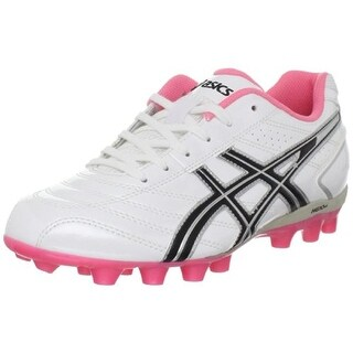 Asics Womens Soccer Faux Leather Cleats Soccer Shoes - 6 medium (b,m)