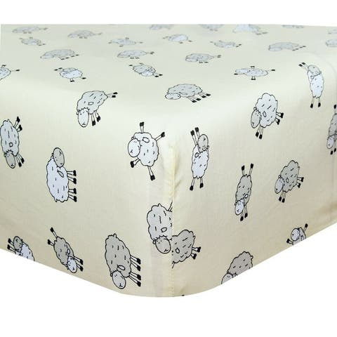 Cuddles & Cribs 1 Pack Natural Cotton Fitted Crib Sheet - 28 x 52 Inch