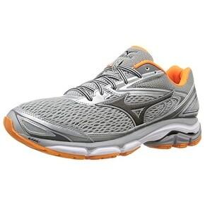 Mizuno Men's Wave Inspire 13 Running Shoe, Grey/Clownfish, 12 D US