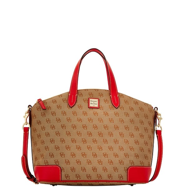 Dooney & Bourke Madison Signature Large Gabriella (Introduced by Dooney & Bourke at $228 in Nov 2015) - Red