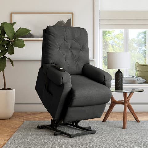 Copper Grove Power Recline and Lift Button-Tufted Chair