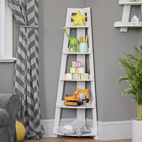 Kids 5-Tier Corner Ladder Shelf