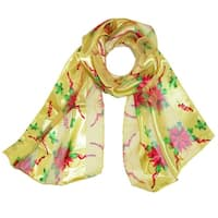CTM® Women's Holiday Poinsettia Print Scarf - One size