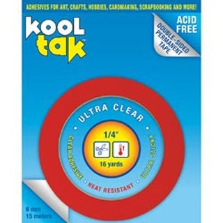 ".25""X16yd - Kool Tak Ultra Clear Tape"
