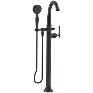 Kohler K-T97332-4 Kelston Floor-Mount Tub Filler with Hand Shower and MasterClean Technology - Less Mounting Block