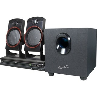 Supersonic SC-35HT Supersonic SC-35HT 2.1 Home Theater System - 11 W RMS - DVD Player - DVD-R, CD-RW - DVD Video, VCD, SVCD -