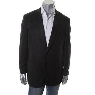 Calvin Klein Mens Herringbone Slim Fit Two-Button Blazer