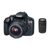 Canon EOS Rebel T6 Digital SLR Camera 18-55mm and 75-300mm Zoom Lenses