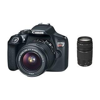 Canon EOS Rebel T6 Digital SLR Camera 18-55mm and 75-300mm Zoom Lenses
