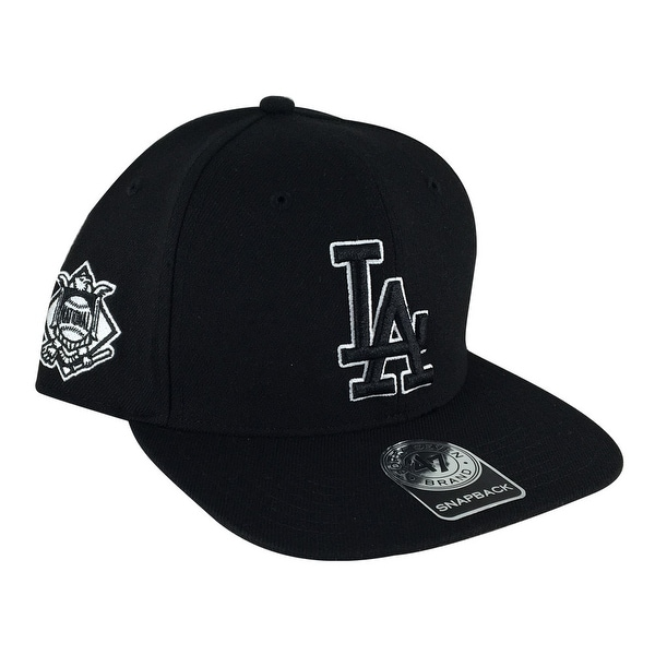47 Brand Sure Shot Los Angeles Dodgers Snapback Hat Cap - Black on Black