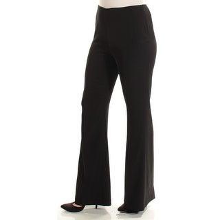 CALVIN KLEIN $89 Womens New 1304 Black Flare Wear To Work Pants 8 B+B