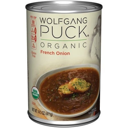 Wolfgang Puck French Onion Soup - Case of 12 - 14.5 oz.