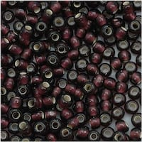 Toho Round Seed Beads 8/0 26CF 'Silver Lined Frosted Amethyst' 8 Gram Tube